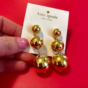 NWT Kate Spade Gold Earrings